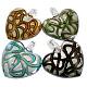 Handmade Silver Foil Glass PendantsX-SLSP180-1