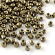 6/0 Glass Seed Beads, Iris Round, CoconutBrown, 4mm, Hole: 1mm; about 4500pcs/pound