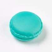 Mallette de transport de bague/collier bijoux de mini macarons mignons de couleur bonbon portable, darkturquoise, 4.2x2~2.1cm; diamètre intérieur: 2.7cm