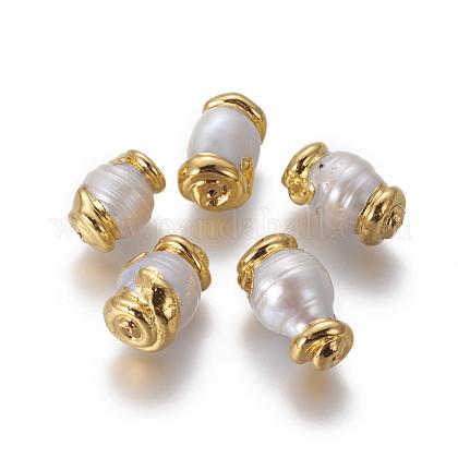 Perlas naturales abalorios de agua dulce cultivadasPEAR-F011-38G-1