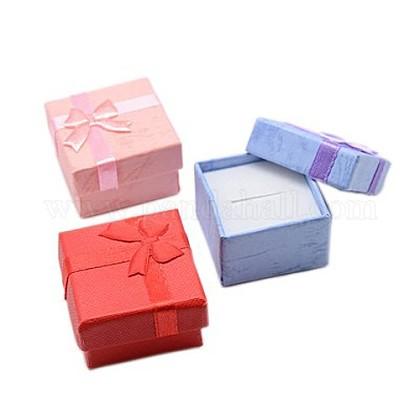 Boîtes à bagues en cartonX-CBOX-G003-08-1