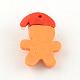 Handmade Christmas Gingerbread Man Polymer Clay PendantsCLAY-R060-35-2