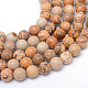 Round Natural Picture Jasper Bead Strands G-R345-6mm-19-1