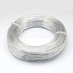 Alambre de aluminio, alambre artesanal flexible, para hacer joyas de abalorios, plata, 22 calibre, 0.6 mm; 280 m / 250 g (918.6 pies / 250 g)