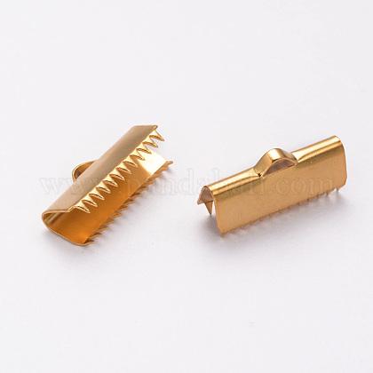 304ステンレス鋼リボンカシメエンドパーツSTAS-K124-04G-1