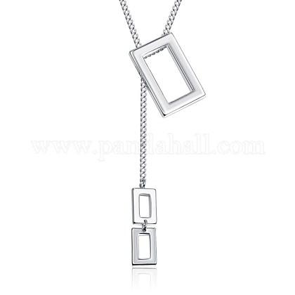 Brass Lariat NecklacesNJEW-BB35265-S-1