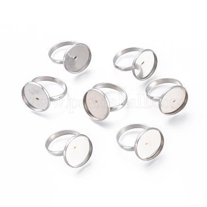 Componentes de anillos de dedo de 304 acero inoxidable ajustablesSTAS-L193-P-16mm-1