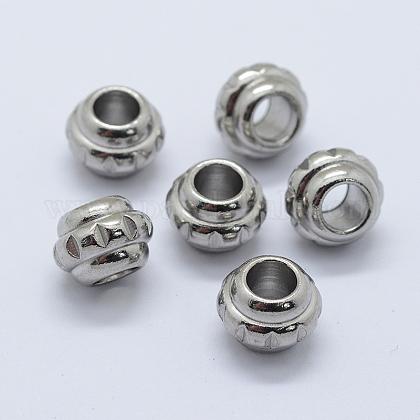 304 Stainless Steel European BeadsSTAS-L198-31P-1