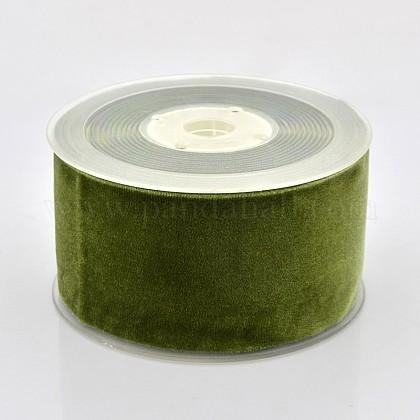Ruban de velours en polyester pour emballage de cadeaux et décoration de festivalSRIB-M001-50mm-570-1