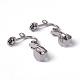 Iron Clip-on Earring Findings for Non-Pierced EarsX-EC141-NF-2