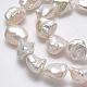 Hebras de perlas keshi de perlas barrocas naturalesPEAR-K004-34-3