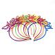 Rubberized Style Plastic Fluorescent Color Hair BandsOHAR-T003-25-1