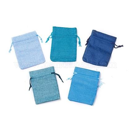 Burlap Packing Pouches Drawstring BagsABAG-X0001-02-1
