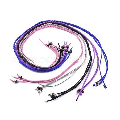 Collares ajustables con cordón de ante sintético lariatNJEW-JN02538-1