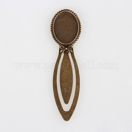 Tibetan Style Antique Bronze Iron Bookmark Cabochon SettingsPALLOY-N0084-10AB-NF-1