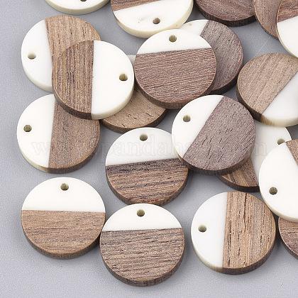 Colgantes de resina y madera de nogalRESI-S358-02C-01-1