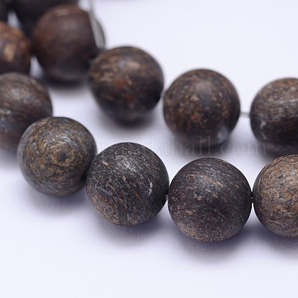 Natural Bronzite Beads Strands G-D745-10mm-1