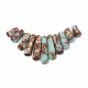 Assembled Bronzite and Synthetic Aqua Terra Jasper Beads StrandsG-S326-005-1