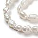 Grado de hebras de perlas de agua dulce cultivadas naturalesA23WS011-4