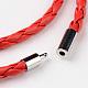 Braided Imitation Leather Cord Wrap BraceletsBJEW-L566-02B-3