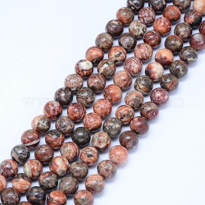 Natural Leopard Skin Jasper Beads StrandsG-J358-05-10mm-1