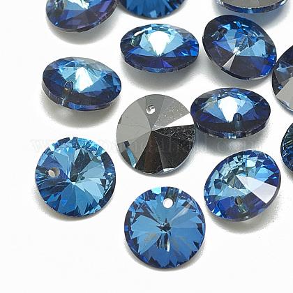 K9 Glass Rhinestone CharmsRGLA-T072-10mm-001BB-1