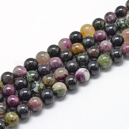 Natural Tourmaline Beads StrandsG-R446-4mm-03-1