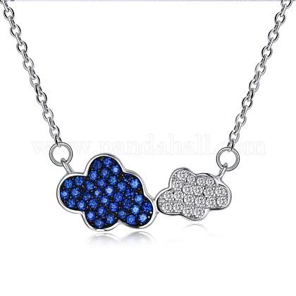 Collares pendientes de plata de ley 925NJEW-BB30057-1