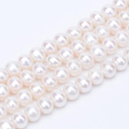 Hebras de perlas de agua dulce cultivadas naturalesPEAR-R063-09-1