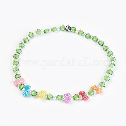 Abalorios de acrílico collares niñosNJEW-JN02235-05-1