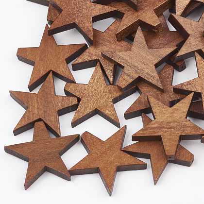 Cuentas de madera de pera naturalX-WOOD-T010-01E-1