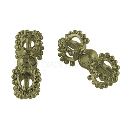 Tibetan Style Metal Alloy Dorje Vajra Beads for Buddhist Jewelry MakingX-PALLOY-S601-AB-FF-1