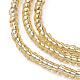 Glass Seed Beads Chain BeltsNJEW-C00007-03-3
