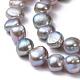 Hebras de perlas de agua dulce cultivadas naturalesPEAR-R064-24-2
