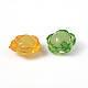 Mixed Color Transparent Faceted Flower Acrylic BeadsX-TACR-S104-M-5