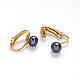 Golden Tone 304 Stainless Steel Freshwater Pearl Clip-on EarringsEJEW-M188-09A-1