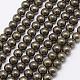 Natural Pyrite Beads StrandsG-D391-01-1