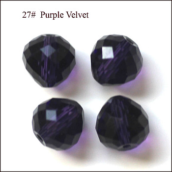 Indigo Imitation Austrian Crystal Beads, Grade AAA, Faceted, Teardrop, Indigo, 6mm, Hole: 0.7~0.9mm