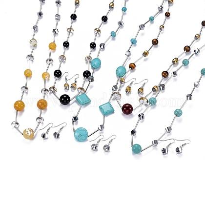 304 Stainless Steel Jewelry SetsSJEW-F199-01P-1