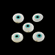 Evil Eye Natural Freshwater Shell Beads, 9~10x4~5mm, Hole: 1mm
