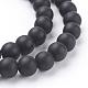 Cuentas sintéticas piedras negras hebrasG508-1-3