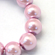 Baking Painted Pearlized Glass Pearl Round Bead Strands HY-Q330-8mm-47-3
