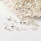 Fgb® deux perles de rocaille doublées d'argentSEED-A023-F-H34-1