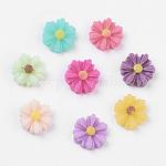 樹脂カボション, 花, ミックスカラー, 9x8x3mm