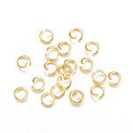 Anillos de salto de 304 acero inoxidable, anillos del salto abiertos, dorado, 22 calibre, 4x0.6mm