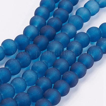 Chapelets de perles en verre transparentGLAA-S031-6mm-31-1