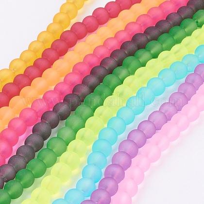 Chapelets de perles en verre mateGGB8MMY-DKM-1