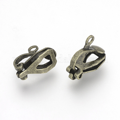 Iron Clip-on Earring Findings X-KK-R071-06AB-1