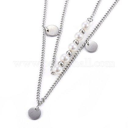 Collares escalonados de 304 acero inoxidableNJEW-O106-01P-1