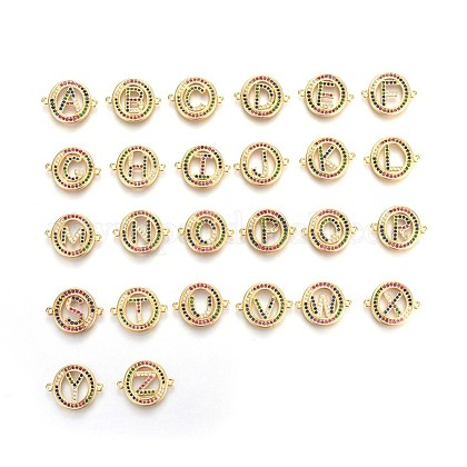 Brass Micro Pave Cubic Zirconia Charms ZIRC-F092-02-1